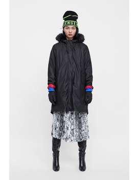 Textured Puffer Raincoat  Coatswoman Sale by Zara