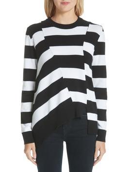 Asymmetrical Stripe Sweater (Nordstrom Exclusive) by Proenza Schouler