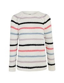 White Stripe Knitted Jumper by Asda