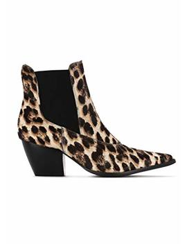 Matisse Womens Golden Gate Snow Leopard Cheetah Animal Print Leather Ankle Boots Booties by Matisse