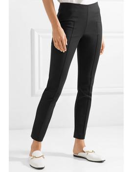 Wool Blend Slim Leg Pants by Akris