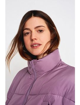Uo Lilac Crop Puffer Jacket by Urban Outfitters