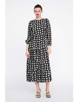 Floral Print Dress With Ruffle  View All Dresses Woman New Collection by Zara