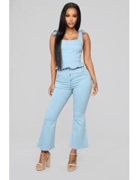 Dazed And Cute Denim Set   Light Wash by Fashion Nova