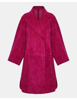 Double Faced Suede Kimono Coat by Theory