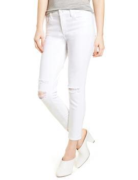 Mid Rise Capri Skinny Jeans by J Brand
