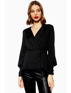 Peplum Button Blouse by Topshop