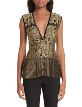Pleated Lace Top by Yigal AzrouËl