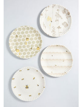 Beehive Bliss Melamine Plate Set by One Hundred 80 Degrees