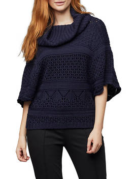 East Pointelle Cowl Jumper, Ink by East