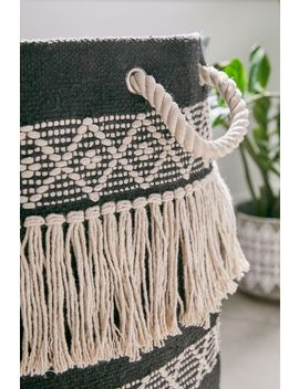 Woven Fringe Laundry Bag by Urban Outfitters