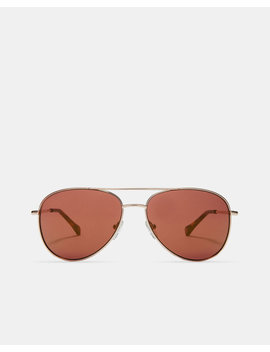 Metallic Pilot Sunglasses by Ted Baker