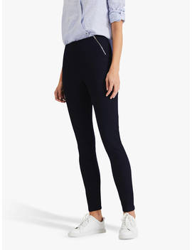 Phase Eight Amina Zip Front Jeggings, Indigo by Phase Eight