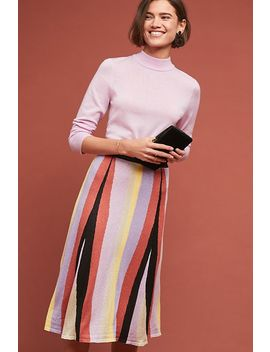 Striped Knit Skirt by Laia