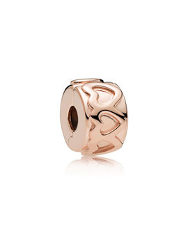 Row Of Hearts Clip, Pandora Rose™ Pandora Rose by Pandora