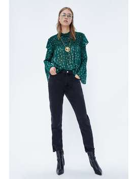Floral Print Blouse With Ruffles  Shirts Starting From 50 Percents Woman Sale by Zara
