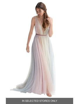 Hutton Rainbow Tulle A Line Wedding Dress by Willowby