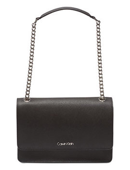 Hayden Leather Shoulder Bag by Calvin Klein