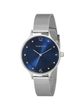Skagen Women's Skw2307 Anita Diamond Blue Dial Stainless Steel Mesh Bracelet Watch by Skagen