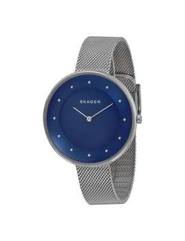Skagen Women's Skw2293 Gitte Analog Blue Dial Stainless Steel Mesh Bracelet Watch by Skagen