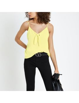 Yellow Bow Front Cami Top by River Island