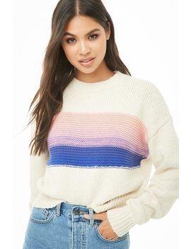 Ribbed Trim Colorblocked Jumper by Forever 21