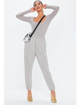 Grey Oversized 90s Joggers by Missguided