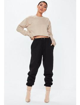 Black Oversized 90s Joggers by Missguided