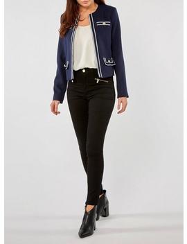 Navy Riviera Boxy Jacket by Dorothy Perkins