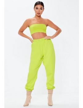 Neon Lime Oversized 90s Joggers by Missguided