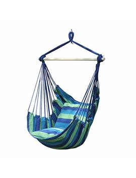 Hanging Cloth Chair | 1 Person Hammock Swinging Cloth Seat | Canvas Swing Chair 100x130 Cm | 100 Percents Cotton | Hammock Incl. Safety Swivel | Multicolor by Zhang Home