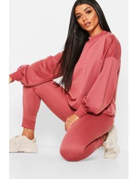 Funnel Neck Balloon Sleeve Jogger Set by Boohoo