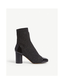 Lyv Glitter Sock Ankle Boots by Sandro
