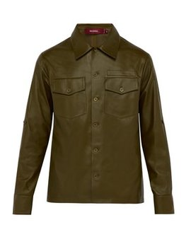 Oliver Leather Shirt by Sies Marjan