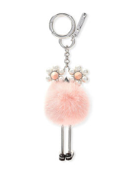 Chick Pompom Mink With Pearl Eye Bag Charm by Fendi