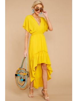 Burnin' Up Yellow High Low Dress by Flying Tomato