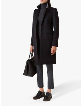 Hobbs Tilda Wool Coat, Black, Black by Hobbs
