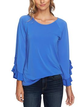 Ruffle Bell Sleeve Top by Cece