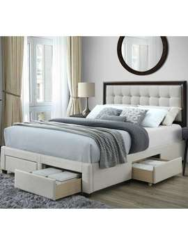 Cosmo Queen Upholstered Storage Bed by Dg Casa