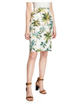 Le Superbe Hawaiian Shine Sequin Palm Tree Pencil Skirt by Le Superbe
