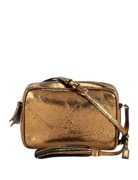 Lou Monogram Ysl Medium Metallic Crossbody Bag by Saint Laurent