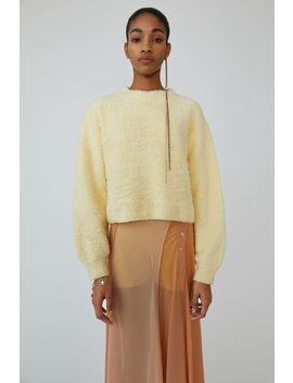 Fuzzy Sweater Vanilla Yellow by Acne Studios