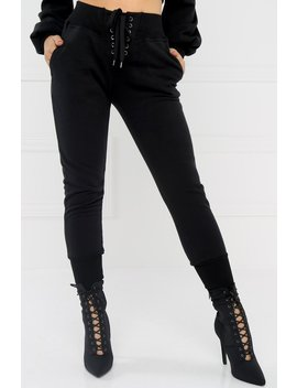All Star Crop Jogger Pant   Black by Miss Lola