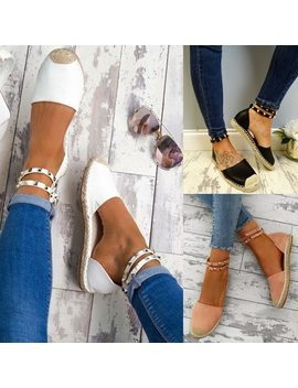 2018 Women Sandals Fashion Summer Shoes Woman Faux Suede Flat Sandals  Casual Shoes Woman Sandals Zapatos Mujer Size 35 43 by Loecktty