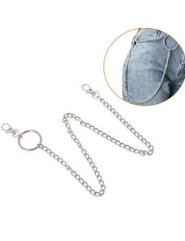 Extra Long Strong Metal Hipster Jean Belt Keychain Ring Clip Key Chain Punk Vbuk by Ebay Seller