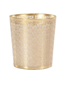Cole & Grey Modern Geometric Lattice Design Round Waste Basket & Reviews by Cole & Grey