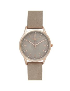 Infinite   Womens' Grey Fan Textured Analogue Watch by Infinite