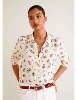 Рубашка с цветочным принтом by Mango