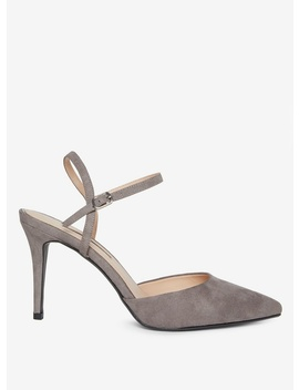 Grey 'Edee' Two Part Court Shoes by Dorothy Perkins