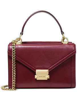 Whitney Polished Leather Top Handle Shoulder Bag by Michael Michael Kors